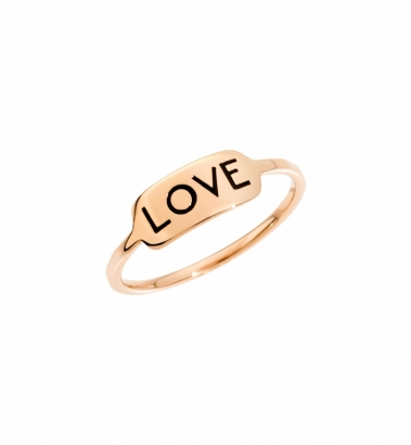 Anello - Tags - Oro Rosa - Love