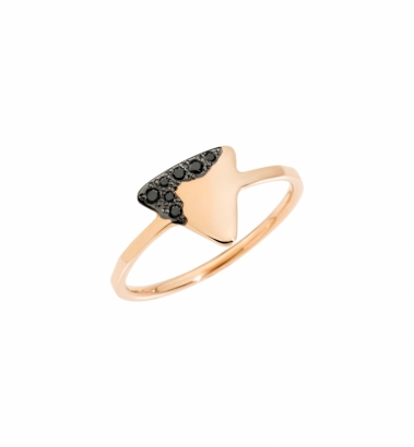 Anello - Tags - Oro Rosa - Diamanti Black