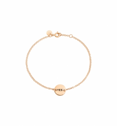 Bracciale tags in oro rosa yes no
