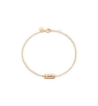bracciale oro rosa fighter lover