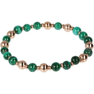 Bronzallure-Bracciale-Golden Rose-Malachite